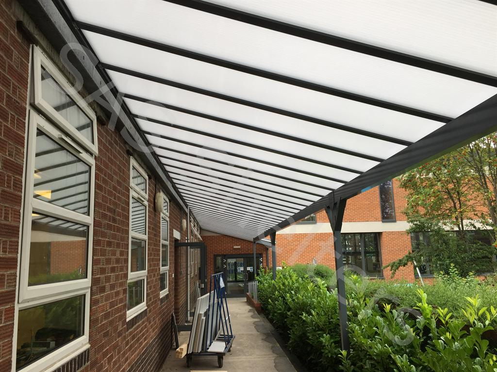 Canopy and Walkway & School Canopies | Lean To Canopies | Canopies for Schools | Curved ...