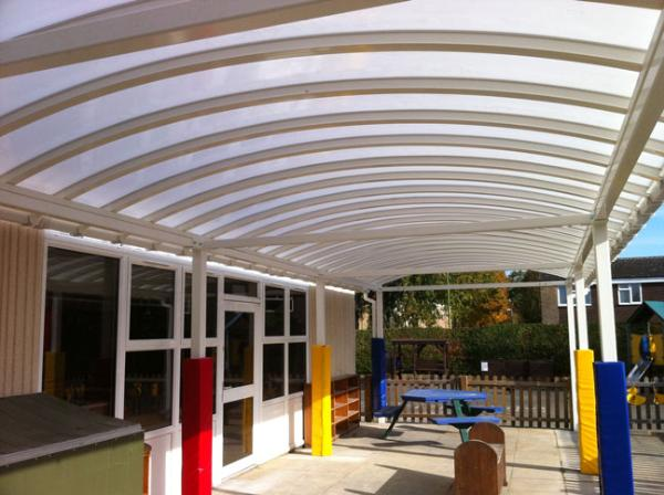Curved Roof Canopy & School Canopies | Lean To Canopies | Canopies for Schools | Curved ... memphite.com