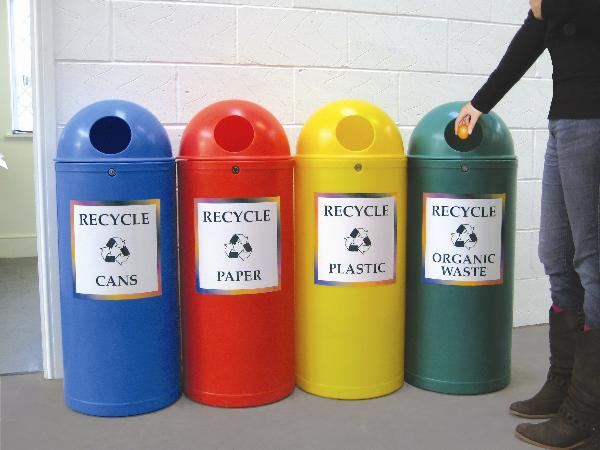 Slimline Classic Recycling Bins | SAS Shelters