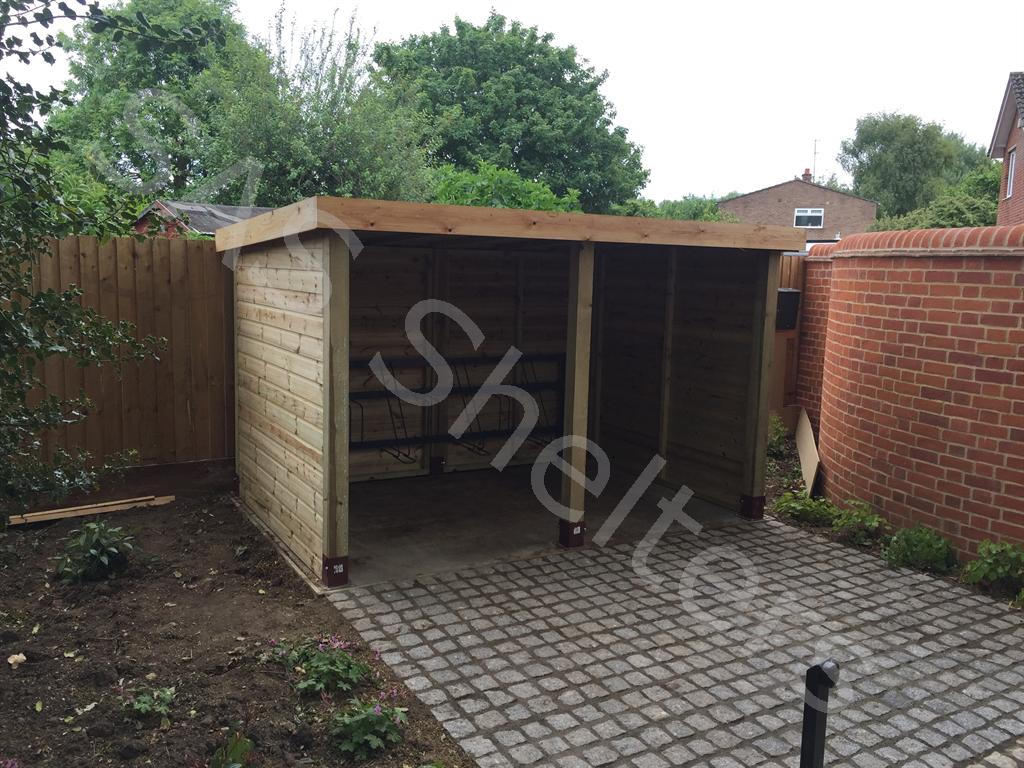 Wooden Cycle Shelter | SAS Shelters