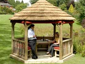 Thatched Roof Wooden Shelters | SAS Shelters