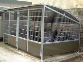Cycle Shelter cage system | SAS Shelters