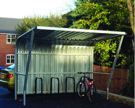 Cantilever Cycle Shelter | SAS Shelters