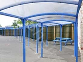 Greet School Walkway | SAS Shelters