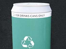 Drink Can Litter Bins | SAS Shelters
