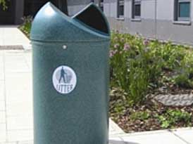 Twist Litter Bin with tidy logo | SAS Shelters