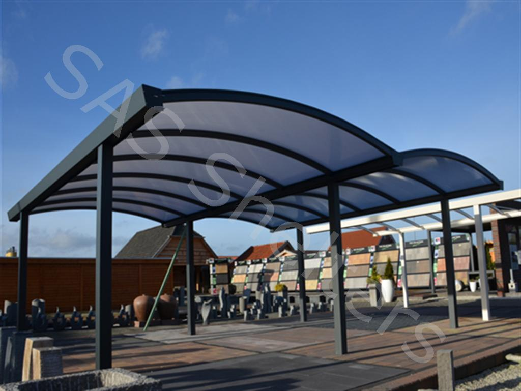SAS Curved Roof Carport | SAS Shelters