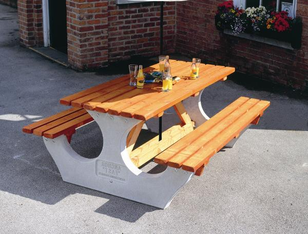 Concrete/Wooden Table and Bench Sets | SAS Shelters