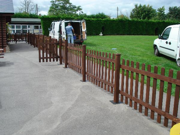 Wooden Picket Fencing | SAS Shelters