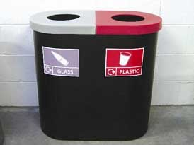 Popular Twin Recycling Bins | SAS Shelters