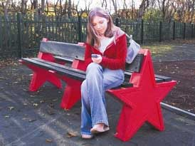 Star Benches | SAS Shelters